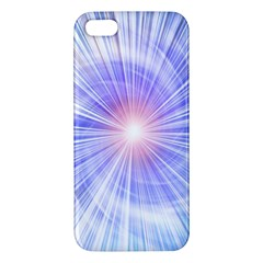 Creation Light Blue White Neon Sun iPhone 5S/ SE Premium Hardshell Case
