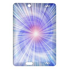 Creation Light Blue White Neon Sun Amazon Kindle Fire HD (2013) Hardshell Case