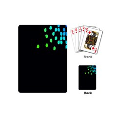 Green Black Widescreen Playing Cards (mini)