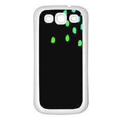 Green Black Widescreen Samsung Galaxy S3 Back Case (White)