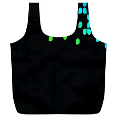 Green Black Widescreen Full Print Recycle Bags (L)
