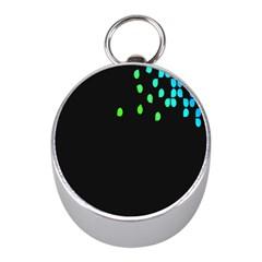 Green Black Widescreen Mini Silver Compasses