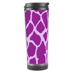 Giraffe Skin Purple Polka Travel Tumbler