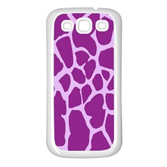 Giraffe Skin Purple Polka Samsung Galaxy S3 Back Case (White)