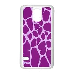 Giraffe Skin Purple Polka Samsung Galaxy S5 Case (White)
