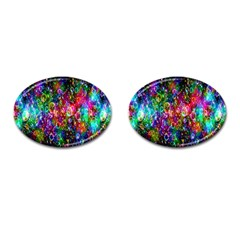 Colorful Bubble Shining Soap Rainbow Cufflinks (oval)