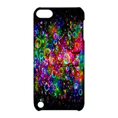 Colorful Bubble Shining Soap Rainbow Apple Ipod Touch 5 Hardshell Case With Stand
