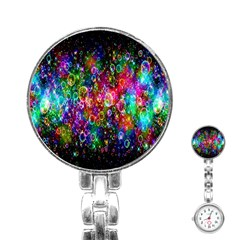 Colorful Bubble Shining Soap Rainbow Stainless Steel Nurses Watch