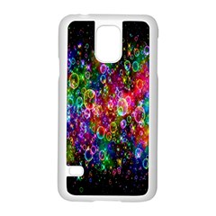 Colorful Bubble Shining Soap Rainbow Samsung Galaxy S5 Case (White)