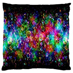 Colorful Bubble Shining Soap Rainbow Large Flano Cushion Case (One Side)