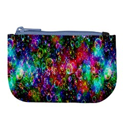 Colorful Bubble Shining Soap Rainbow Large Coin Purse