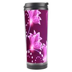 Lotus Sunflower Sakura Flower Floral Pink Purple Polka Leaf Polkadot Waves Wave Chevron Travel Tumbler