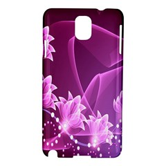 Lotus Sunflower Sakura Flower Floral Pink Purple Polka Leaf Polkadot Waves Wave Chevron Samsung Galaxy Note 3 N9005 Hardshell Case