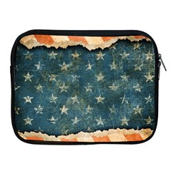 Grunge Ripped Paper Usa Flag Apple iPad 2/3/4 Zipper Cases