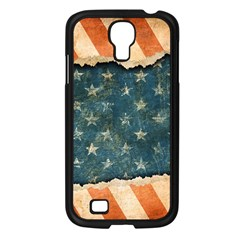 Grunge Ripped Paper Usa Flag Samsung Galaxy S4 I9500/ I9505 Case (Black)