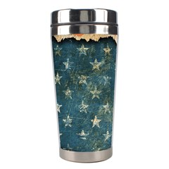 Grunge Ripped Paper Usa Flag Stainless Steel Travel Tumblers