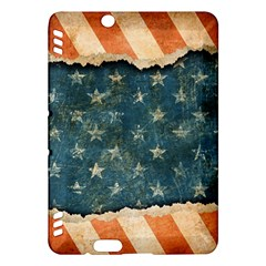 Grunge Ripped Paper Usa Flag Kindle Fire HDX Hardshell Case