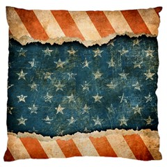 Grunge Ripped Paper Usa Flag Standard Flano Cushion Case (Two Sides)