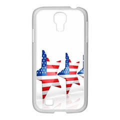 Multiple Us Flag Stars Line Slide Samsung GALAXY S4 I9500/ I9505 Case (White)