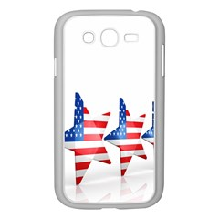Multiple Us Flag Stars Line Slide Samsung Galaxy Grand DUOS I9082 Case (White)