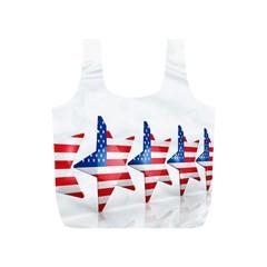 Multiple Us Flag Stars Line Slide Full Print Recycle Bags (S)
