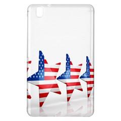 Multiple Us Flag Stars Line Slide Samsung Galaxy Tab Pro 8.4 Hardshell Case
