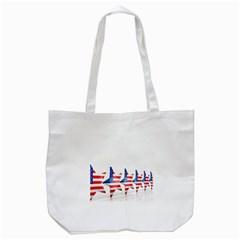 Multiple Us Flag Stars Line Slide Tote Bag (White)