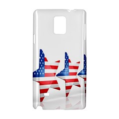 Multiple Us Flag Stars Line Slide Samsung Galaxy Note 4 Hardshell Case