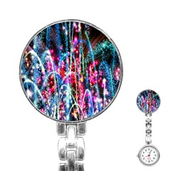 Fireworks Rainbow Stainless Steel Nurses Watch