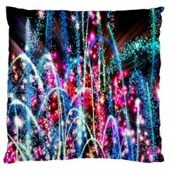 Fireworks Rainbow Large Flano Cushion Case (One Side)