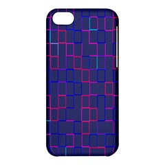 Grid Lines Square Pink Cyan Purple Blue Squares Lines Plaid Apple iPhone 5C Hardshell Case