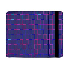 Grid Lines Square Pink Cyan Purple Blue Squares Lines Plaid Samsung Galaxy Tab Pro 8.4  Flip Case