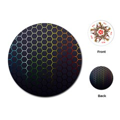 Hexagons Honeycomb Playing Cards (round)