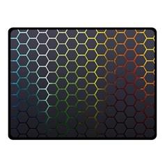 Hexagons Honeycomb Double Sided Fleece Blanket (Small)