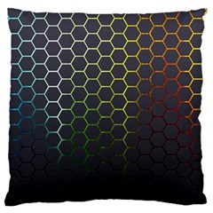 Hexagons Honeycomb Large Flano Cushion Case (One Side)