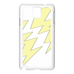 Lightning Yellow Samsung Galaxy Note 3 N9005 Case (White)