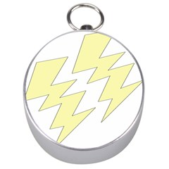 Lightning Yellow Silver Compasses