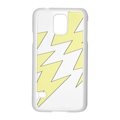 Lightning Yellow Samsung Galaxy S5 Case (White)