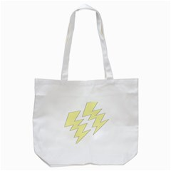Lightning Yellow Tote Bag (White)