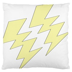 Lightning Yellow Large Flano Cushion Case (One Side)