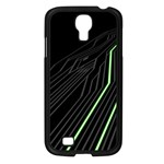 Green Lines Black Anime Arrival Night Light Samsung Galaxy S4 I9500/ I9505 Case (Black) Front