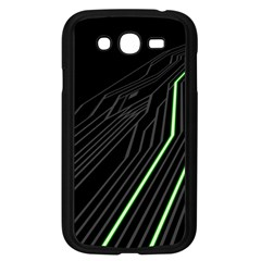 Green Lines Black Anime Arrival Night Light Samsung Galaxy Grand DUOS I9082 Case (Black)