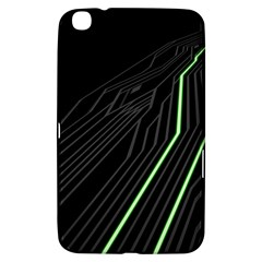 Green Lines Black Anime Arrival Night Light Samsung Galaxy Tab 3 (8 ) T3100 Hardshell Case