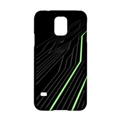 Green Lines Black Anime Arrival Night Light Samsung Galaxy S5 Hardshell Case