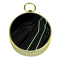 Green Lines Black Anime Arrival Night Light Gold Compasses