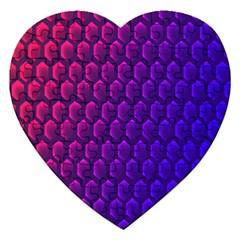 Hexagon Widescreen Purple Pink Jigsaw Puzzle (heart)