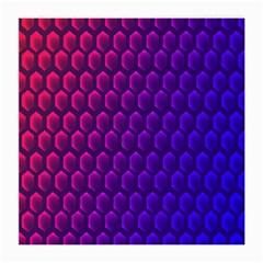 Hexagon Widescreen Purple Pink Medium Glasses Cloth
