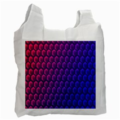 Hexagon Widescreen Purple Pink Recycle Bag (two Side)