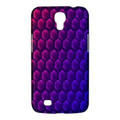 Hexagon Widescreen Purple Pink Samsung Galaxy Mega 6.3  I9200 Hardshell Case