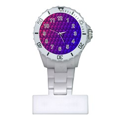 Hexagon Widescreen Purple Pink Plastic Nurses Watch